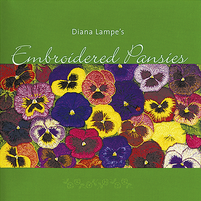 Diana Lampe's Embroidered Pansies
