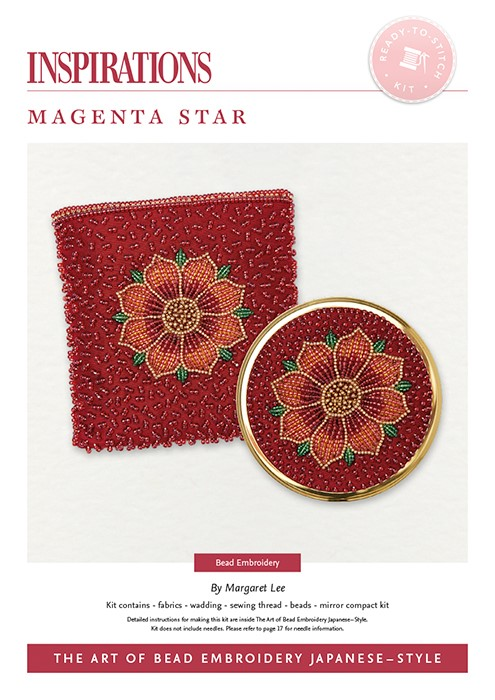 Magenta Star - Bead Embroidery Japanese-Style Kit