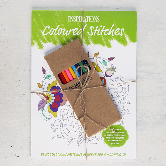 Coloured Stitches | Colouring Book with Pencils