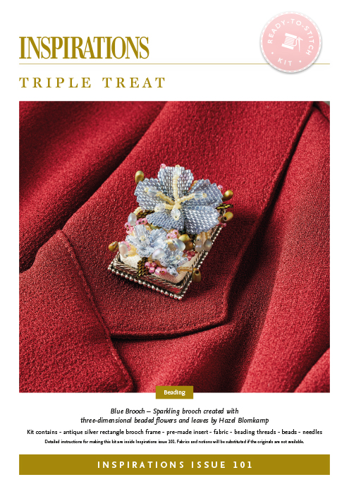Triple Treat: Blue Brooch - i101 Kit