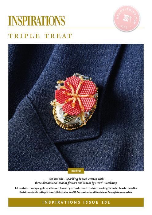 Triple Treat: Red Brooch - i101 Kit