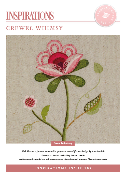 Crewel Whimsy: Pink Flower - i102 Kit