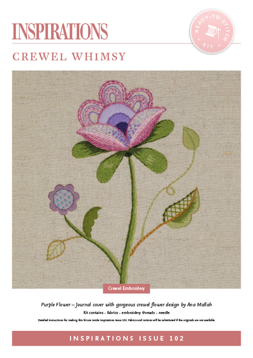 Crewel Whimsy: Purple Flower - i102 Kit