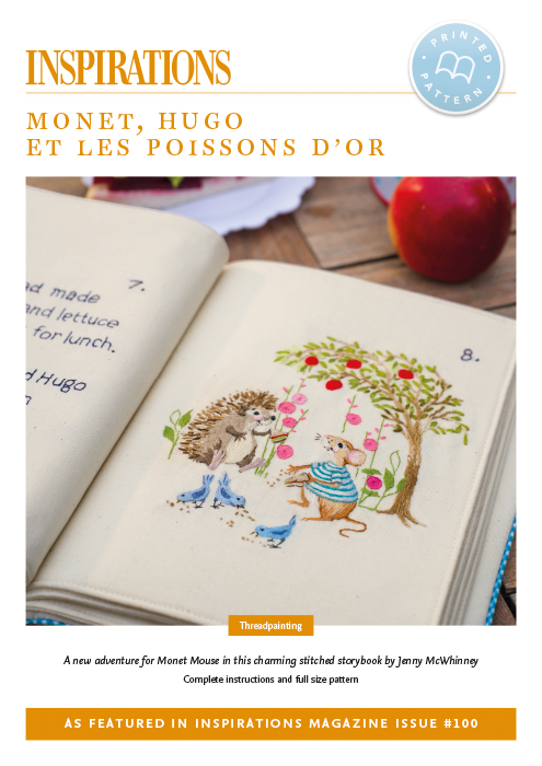 Monet, Hugo et les poissons d'or (Monet, Hugo and the golden fish) - i100 Print