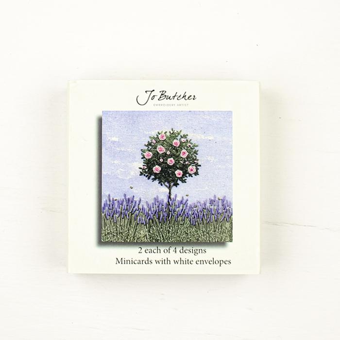 Jo Butcher Mini Cards - Rose Bush & Lavender