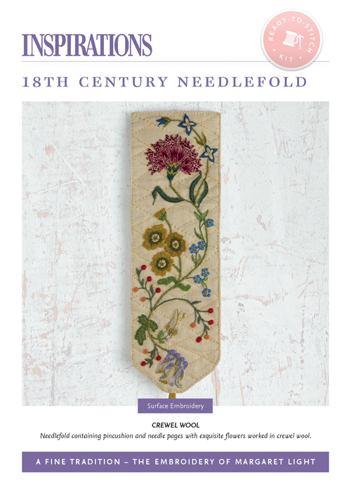 18th Century Needlefold: Crewel Wool - AFT Kit