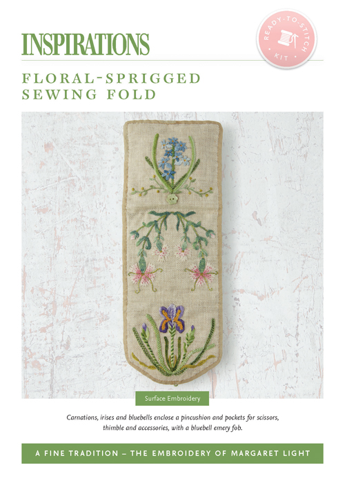 Floral-Sprigged Sewing Fold - AFT Kit