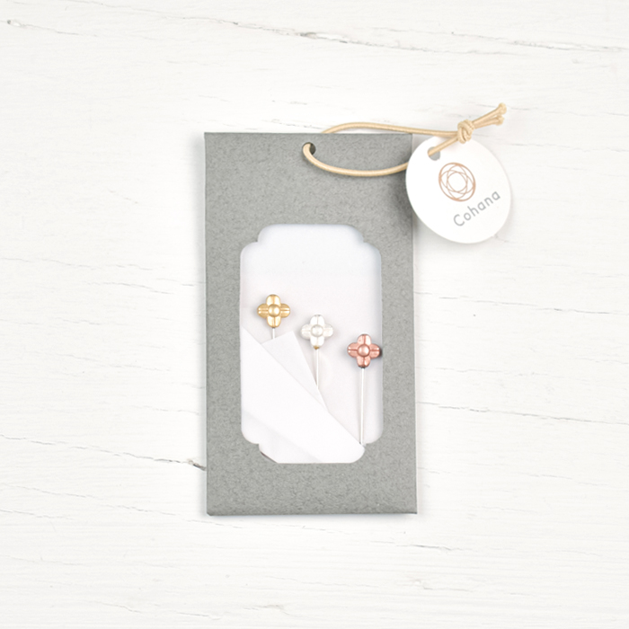 Cohana Metal-Head Marking Pins - Flowers